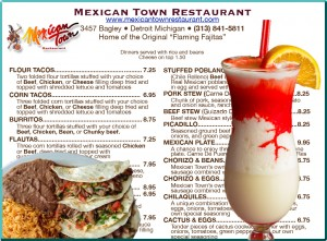 The Detroit Mexicantown Menu